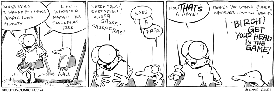 strip for July / 31 / 2012 - Who does Sheldon wanna high-five?