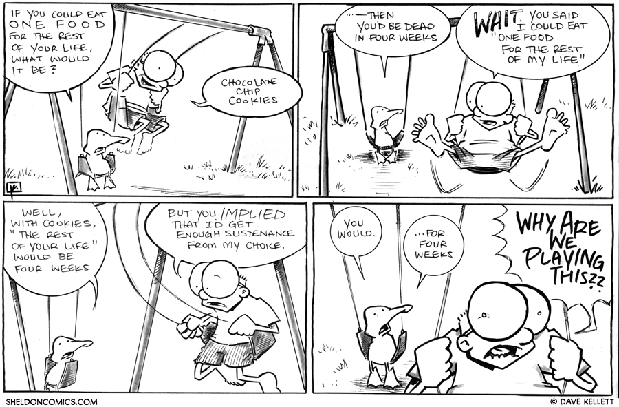 strip for August / 31 / 2012 - If you could eat one food for the rest of your life, what would it be?