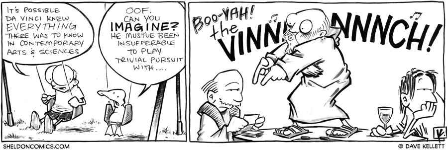 strip for September / 12 / 2012 - Could Da Vinci have known everything about Contemporary Arts & Sciences?
