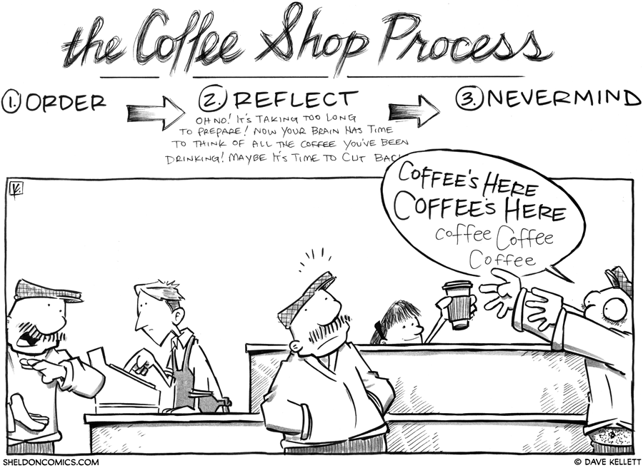 strip for September / 18 / 2012 - The Coffee Shop Process is...