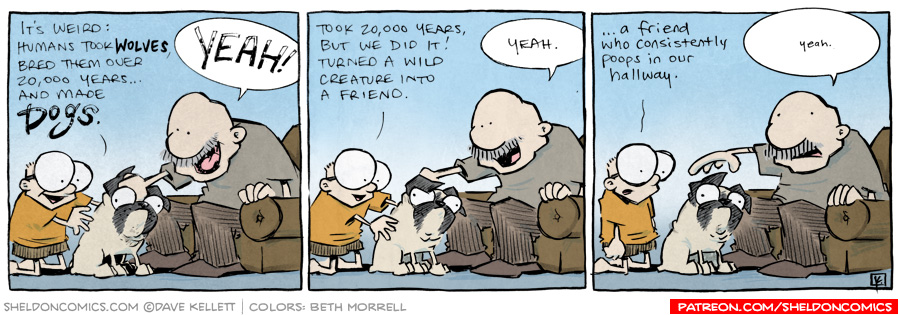 strip for September / 19 / 2012 - Humans took wolves and...