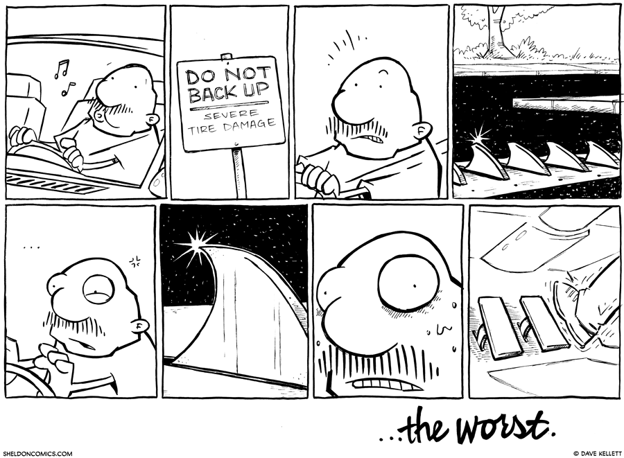strip for October / 2 / 2012 - What does that sign say?