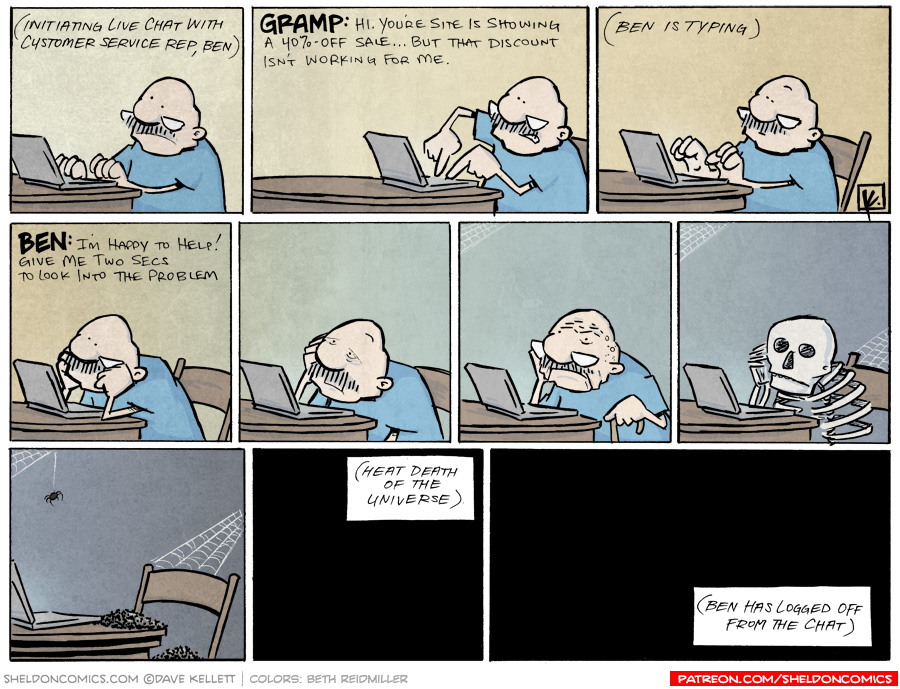 strip for October / 5 / 2012 - What is Gramp doing on the computer?