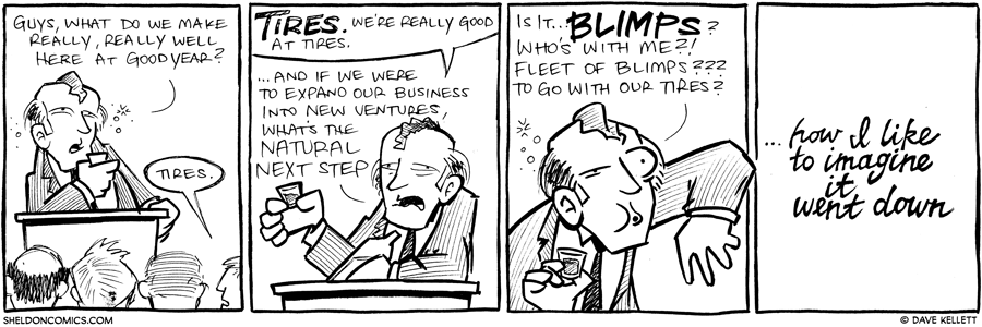 strip for October / 12 / 2012 - Guys, what do we make really well at Goodyear?