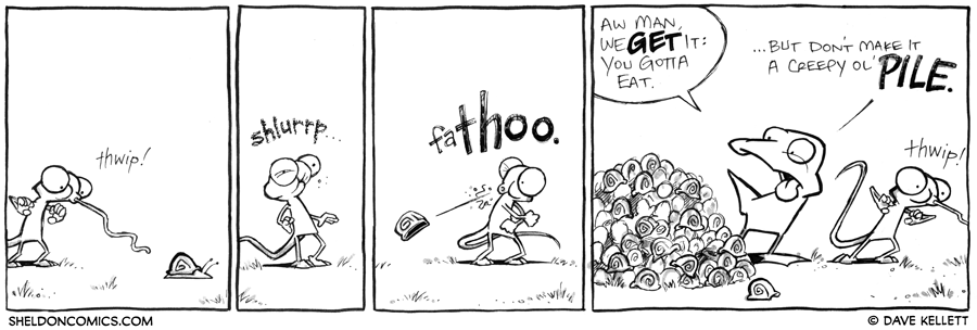 strip for October / 15 / 2012 - What does Flaco catch with his tongue now?