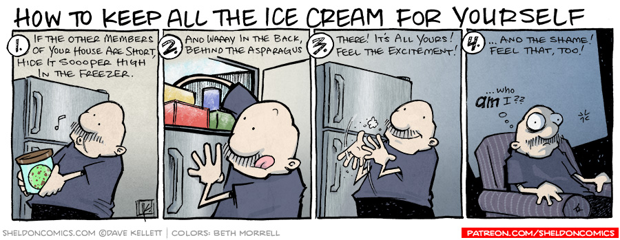 strip for October / 18 / 2012 - How to keep all the ice cream for yourself...