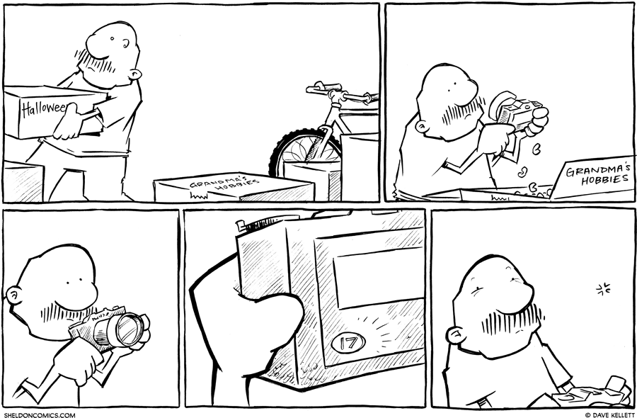strip for October / 22 / 2012 - What does gramp find in the box?