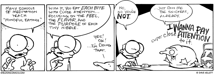strip for November / 2 / 2012 - Many schools of meditation teach...