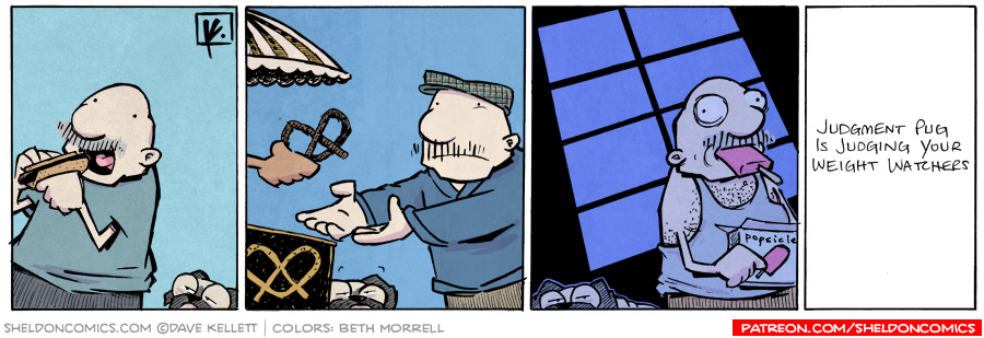 strip for November / 6 / 2012 - Gramp eats a hot dog and...