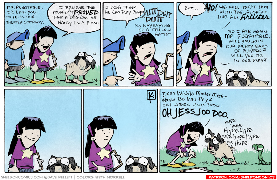 strip for November / 15 / 2012 - Will Oso join Emily's theater company?
