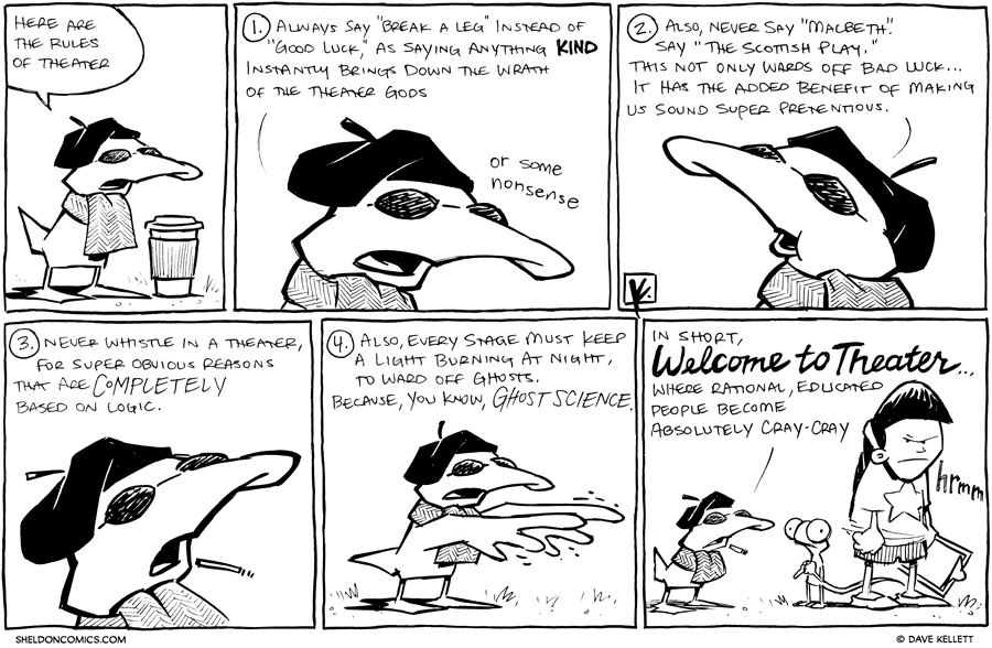 strip for November / 20 / 2012 - Here are the rules of theater...