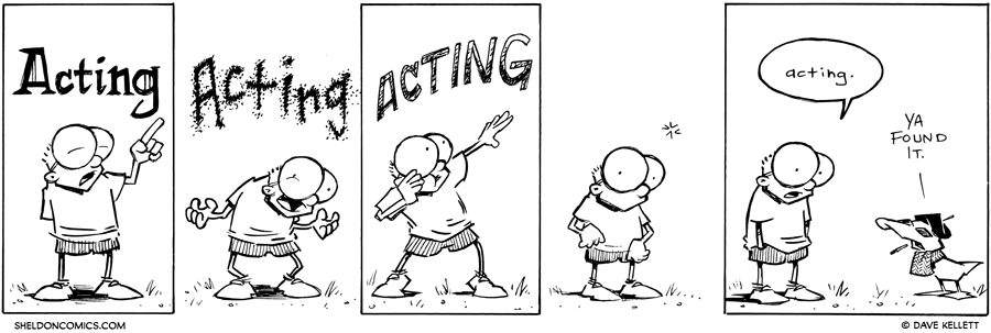 strip for November / 21 / 2012 - Acting is...
