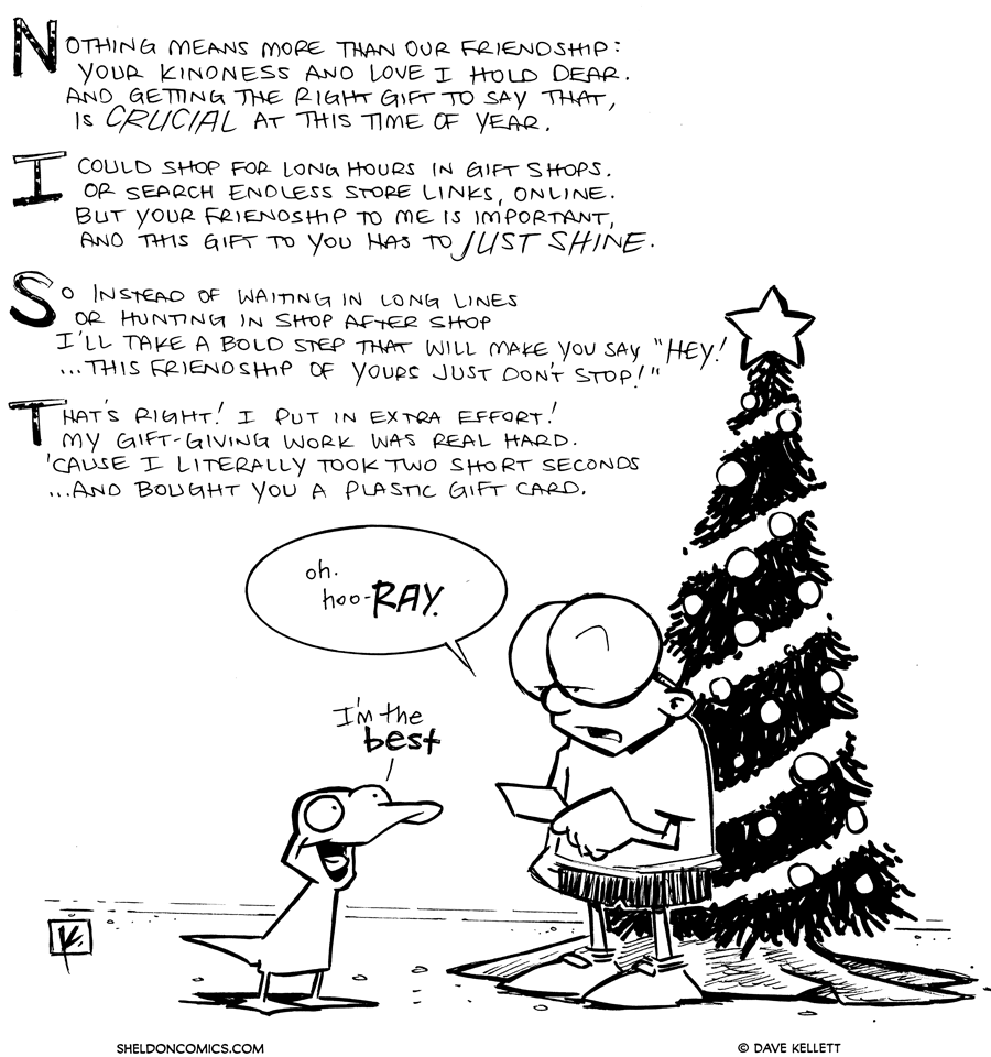strip for November / 30 / 2012 - Nothing means more than our friendship...