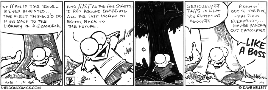 strip for December / 5 / 2012 - What would Sheldon do if Time Travel is ever invented?