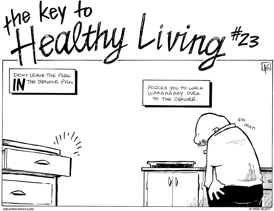 strip for December / 14 / 2012 - What is the key to healthy living?