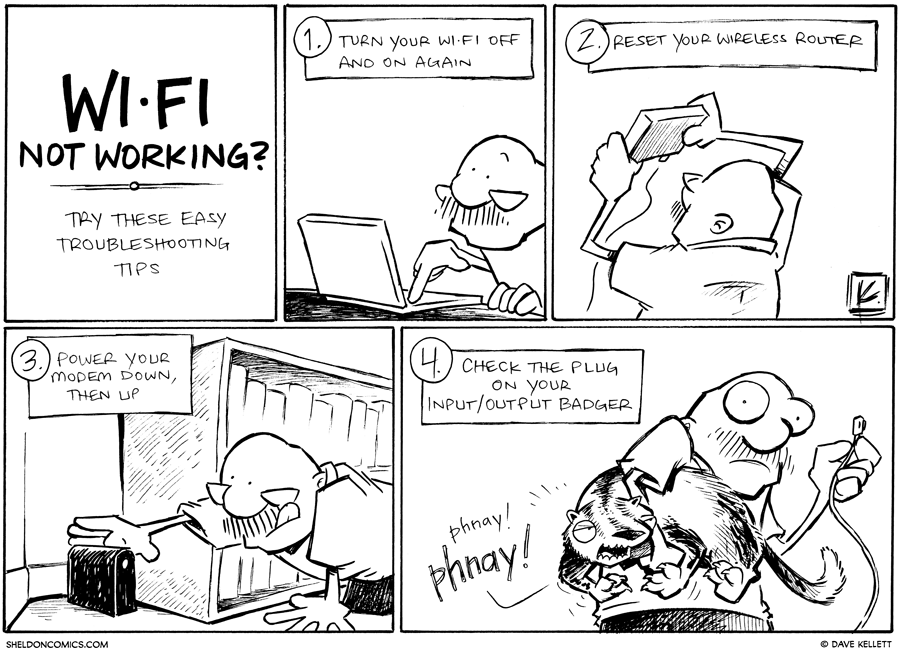strip for January / 23 / 2013 - What do you do when WiFi is not working?
