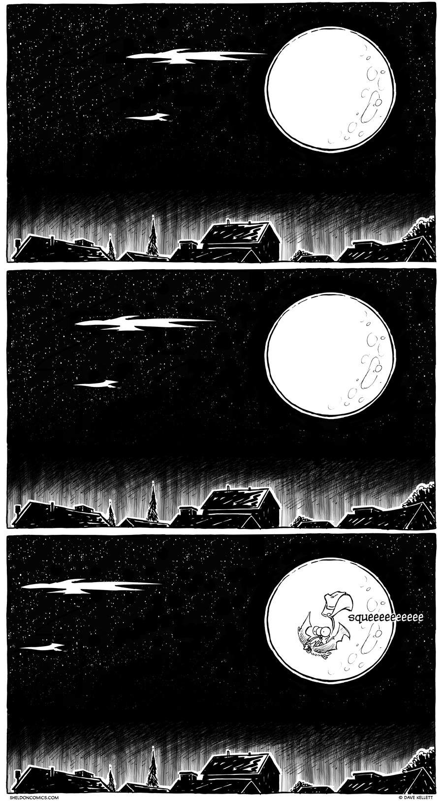 strip for February / 25 / 2013 - There was a big moon that night and...