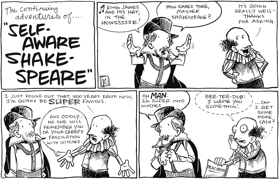 strip for March / 11 / 2013 - What will happen next to Self-Aware Shakespeare?