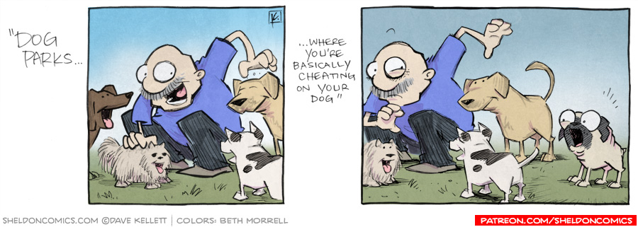 strip for March / 13 / 2013 - Dog parks...