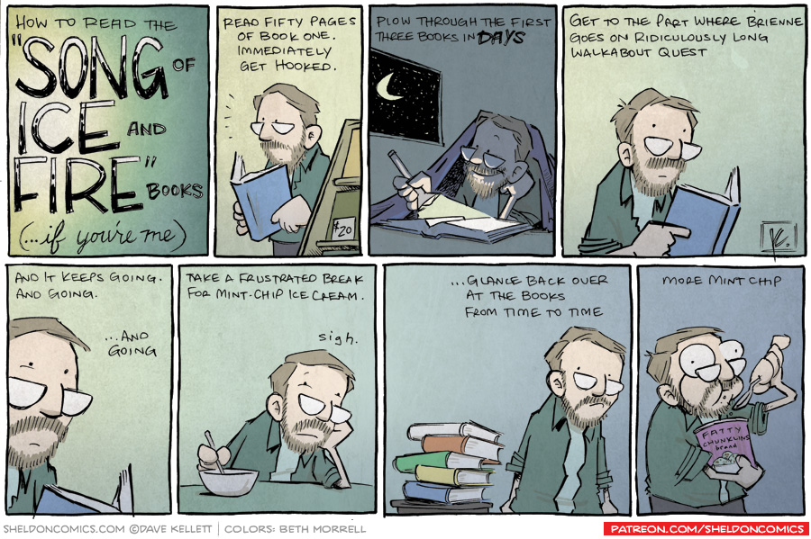 """strip for April / 15 / 2013 - How to read the """"Song of Ice and Fire"""" books..."""
