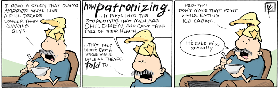 strip for May / 6 / 2013 - What did Gramp read?