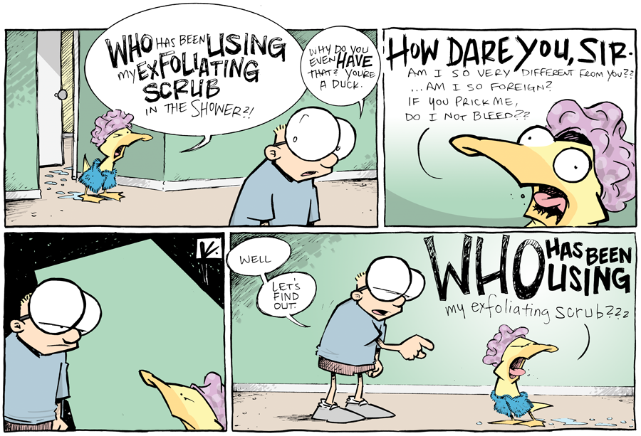 strip for July / 29 / 2013 - My Exfoliating Scrub