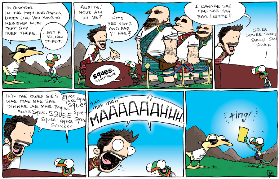 strip for September / 4 / 2013 - Highland Games, part 5