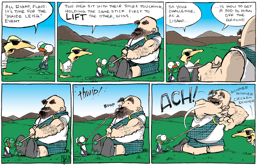 strip for September / 6 / 2013 - Highland Games, part 7