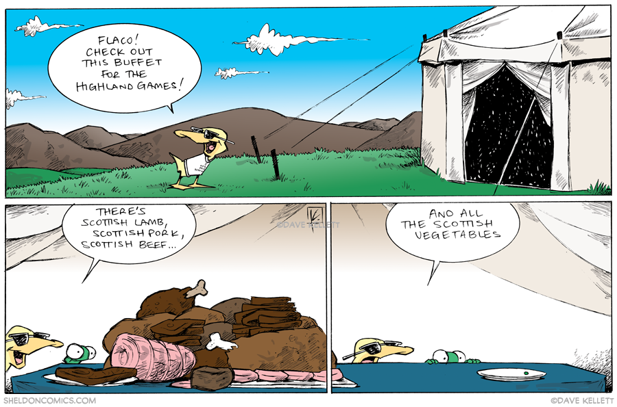 strip for September / 10 / 2013 - Highland Games, part 9