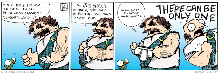 strip for September / 11 / 2013 - Highland Games, part 10