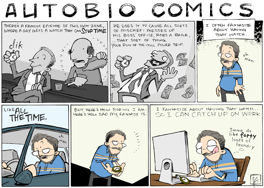 strip for September / 16 / 2013 - I have the saddest fantasy life