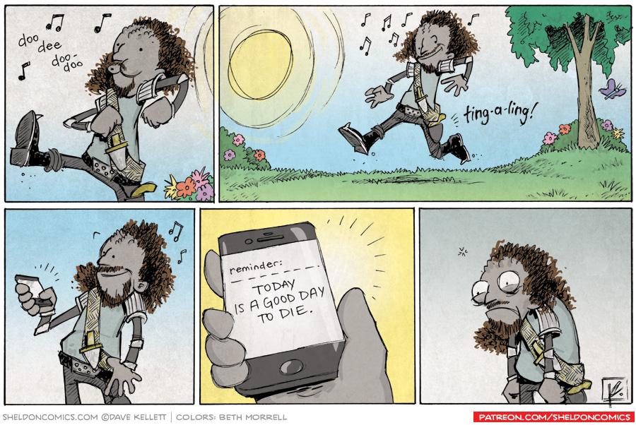 strip for September / 18 / 2013 - Today is a good day to die.
