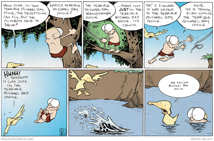 strip for October / 21 / 2013 - That Terrible Michael Bay Movie
