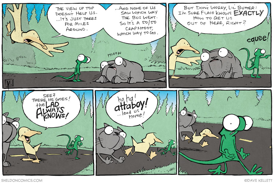 strip for November / 25 / 2013 - The Cat Came Back, part 4