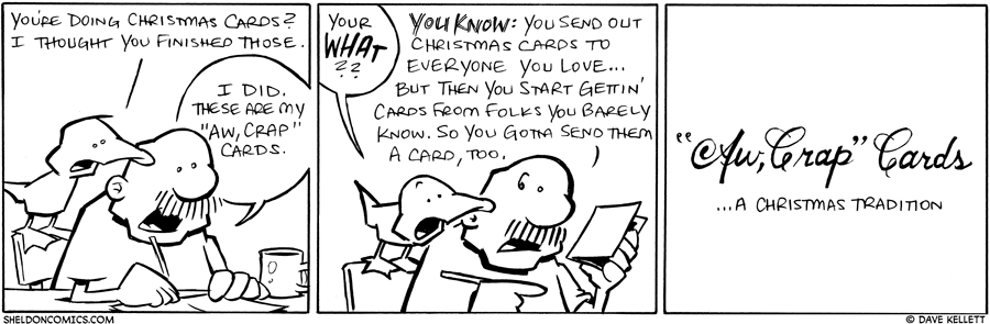 strip for December / 27 / 2013 - Aw, Crap Cards