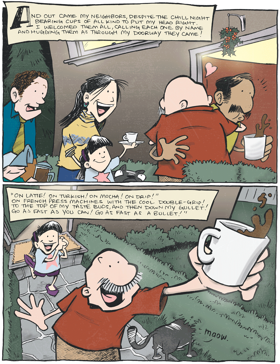 strip for January / 1 / 2014 - 'Twas The Night Without Coffee, part 3