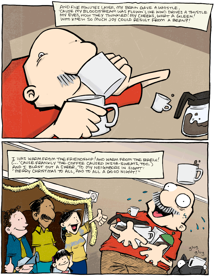 strip for January / 2 / 2014 - 'Twas The Night Without Coffee, part 4