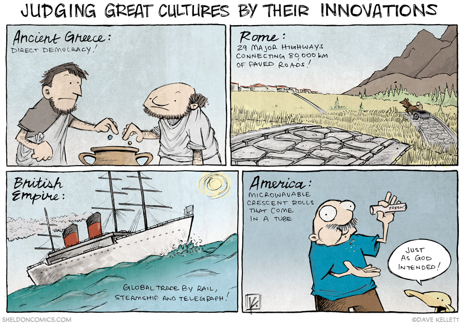 strip for January / 6 / 2014 - Judging Great Cultures by Their Innovations