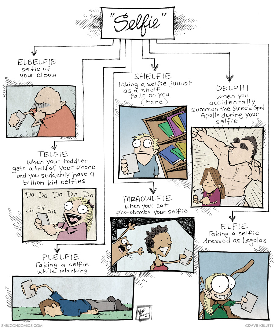 strip for January / 8 / 2014 - Future Evolution of the Selfie
