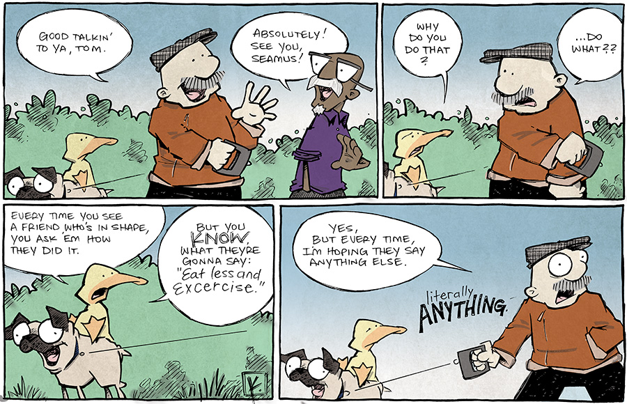 strip for January / 21 / 2014 - Literally. Anything but this.