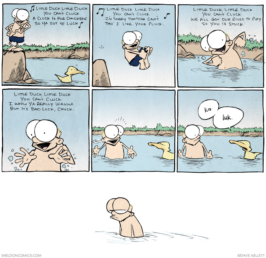 strip for January / 24 / 2014 - Little Duck, Little Duck, You Can't Cluck