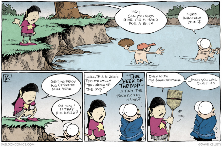 strip for January / 27 / 2014 - Chinese New Year, part 1