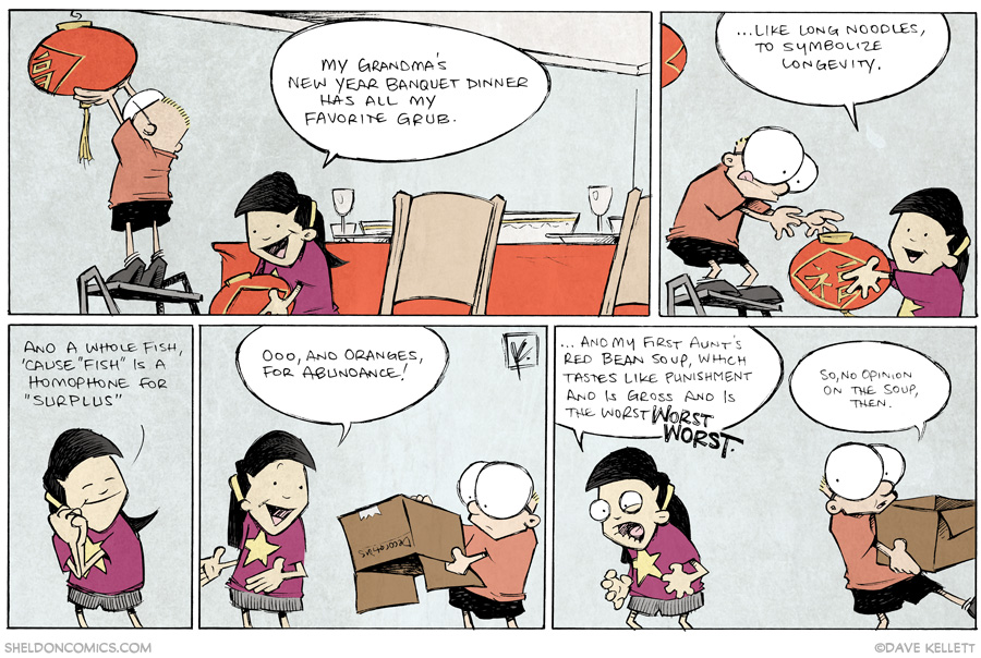 strip for January / 31 / 2014 - Chinese New Year, Gung Hay Fat Choy!