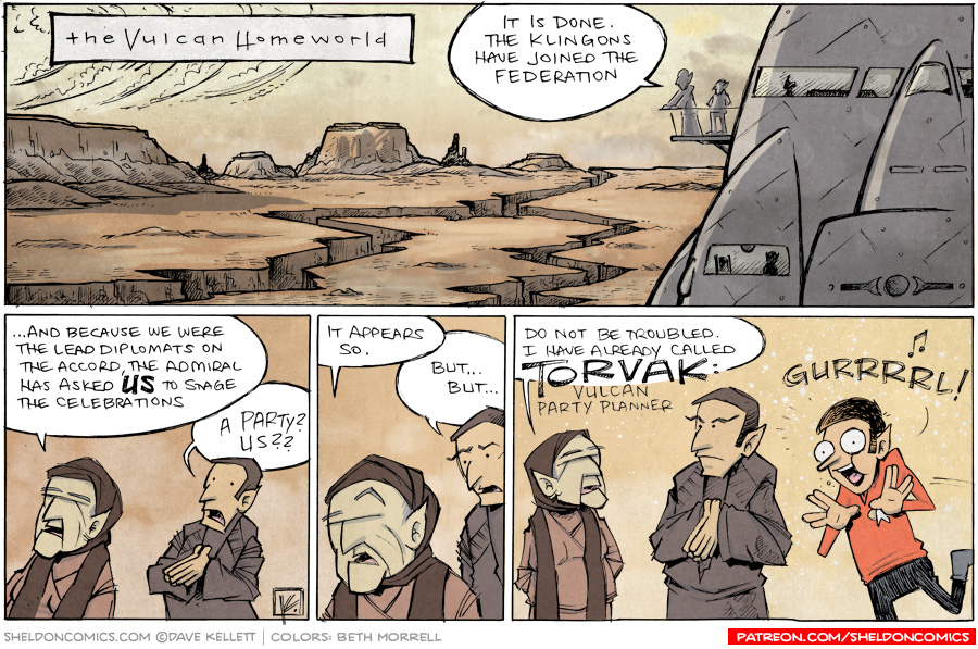 strip for February / 3 / 2014 - An Old Friend Returns to the Vulcan Homeworld