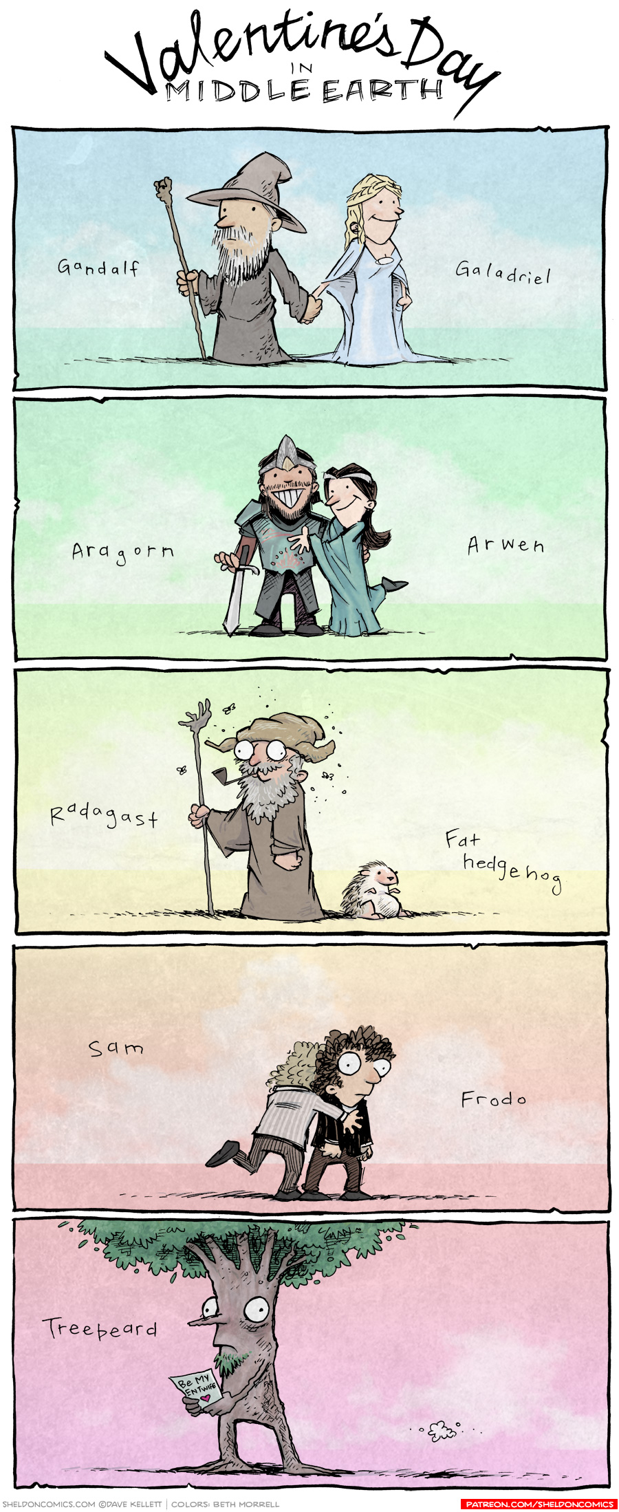strip for February / 14 / 2014 - Valentine's Day in Middle Earth