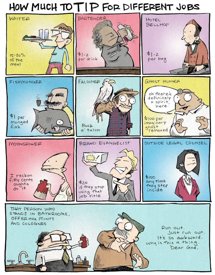 strip for February / 18 / 2014 - How Much to Tip Different Jobs