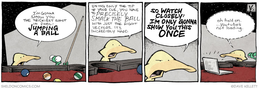 strip for February / 21 / 2014 - Pool Sharkin', part 2