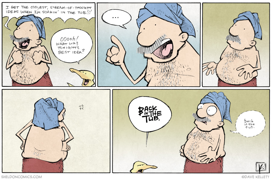 strip for April / 17 / 2014 - Tub Time