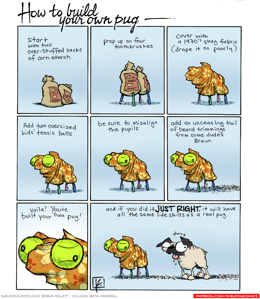 strip for April / 18 / 2014 - How To Build Your Own Pug