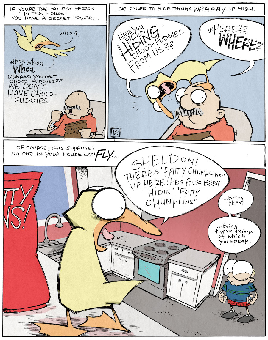 strip for April / 28 / 2014 - Tallest in the House Leads to Fattest in the House